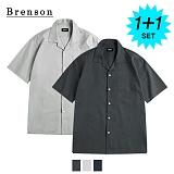 [1+1]브렌슨 - 오픈카라 포켓 셔츠