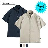 [1+1]브렌슨 - 프리미엄 린넨 사이드 트임 포켓 셔츠