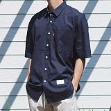 [모니즈] 40수 오버핏 반팔 셔츠 (6color) SHT594