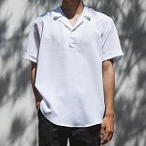 [모니즈] 반오픈 카라 반팔 셔츠 (7color) SHT593
