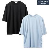 [해리슨] 직선 골지 박스 반팔티셔츠 CLO1256