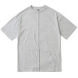 [언커먼팩터스]UFS-SPLIT HALF KANGAROO PKT TEE스플릿 하프 캥거루 포켓 반팔 반팔티 티셔츠