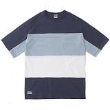 [언커먼팩터스]UFS-SPLIT SLEEVE COLOR BLOCK TEE스플릿 슬리브 칼라블록 반팔 반팔티 티셔츠