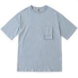[언커먼팩터스]UFS-TACTICAL POCKET T-SHIRT(SKY BLUE) 택티컬 포켓 반팔 반팔티 티셔츠