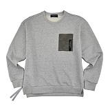 [컨셉츄얼] Conceptural - 컬러 포켓 스��셔츠 그레이