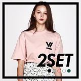 [프로젝트624]PROJECT624 [1+1] 로마 빅로고 티셔츠 모음 (5color) 반팔티