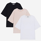 [프로젝트624]PROJECT624 [1+1] 베이직 루즈핏 라운드 티셔츠(3color) 반팔티