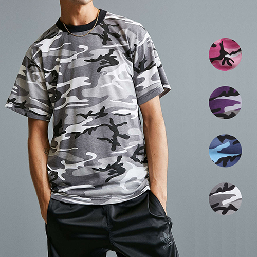 [국내배송][로스코]ROTHCO - COLOR CAMO TEE 4 COLORS 컬러 카모 티셔츠 4컬러
