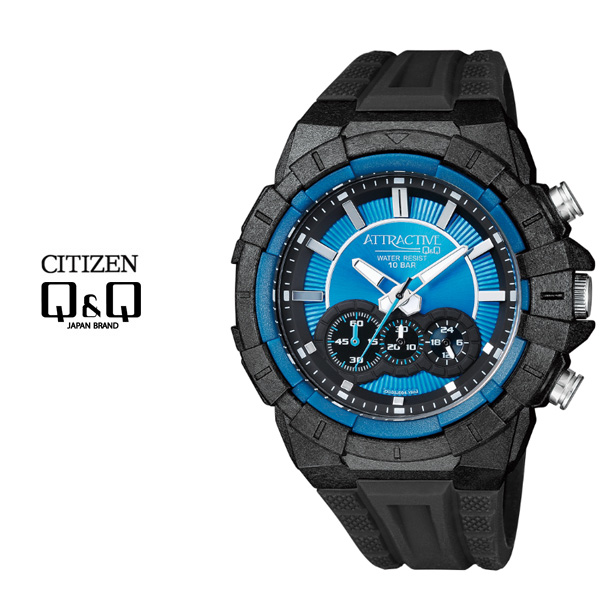 큐앤큐 - DG08J-004Y MAN-BLACK 전자시계