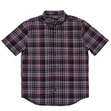 BLACKSCALE Signature Plaid Short Sleeve Button Down Black 반팔셔츠