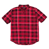 BLACKSCALE Signature Plaid Short Sleeve Button Down Red 반팔셔츠