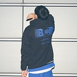 [본챔스] BORN CHAMPS B BLUE HOOD BLACK CEPCMHD80BK 후디 후드티셔츠