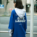 [본챔스] BORN CHAMPS LIVE LARGE LAYERED HOOD BLUE CEQAMHD05BL 후디 후드티셔츠