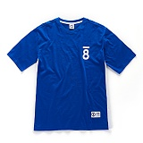 [본챔스] BORN CHAMPS CMPS 08 SIDE LINE TEE BLUE CEPBMTS01BL 반팔티