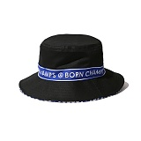 [본챔스] BORN CHAMPS BC TAPE BUCKET HAT BLACK CEQFMCA03BK 버킷햇 벙거지