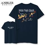 [엠블러]AMBLER 신상 자수 반팔 티셔츠 AS423-네이비