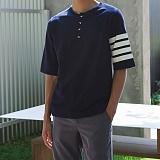 [모니즈] 쭈리 헨리넥 반팔 티셔츠 (3color) TSB104