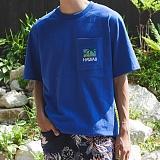 [모니즈] 하와이 포켓 반팔 티셔츠 (2color) TSB102