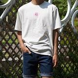 [모니즈] 옆 지퍼 자수 반팔 티셔츠 (3color) TSB101