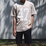 [모니즈] 47 절개 반팔 티셔츠 (3color) TSB099