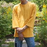 [모니즈] 소매 레터링 7부 티셔츠 (5color) TSB096