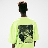[매스노운]MASSNOUN 코크파이트 오버핏 반팔 티셔츠 MUVTS010-LG