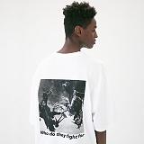 [매스노운]MASSNOUN 코크파이트 오버핏 반팔 티셔츠 MUVTS010-WT
