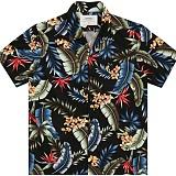 [언더에어]UNDER AIRMapleload Aloha Shirt(U) - Black 하와이안 셔츠 남방
