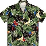 [언더에어]UNDER AIRB-Leaf Aloha Shirt(U) - Black 하와이안 셔츠 남방