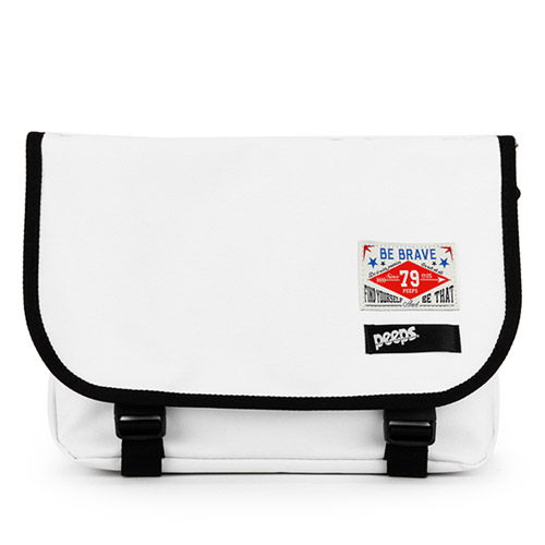 [핍스] PEEPS E2 mini messenger bag(white)
