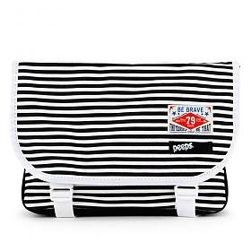 [핍스] PEEPS E2 mini messenger bag(stripe_black)