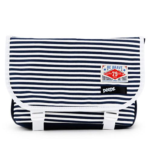[핍스] PEEPS E2 mini messenger bag(stripe_navy)