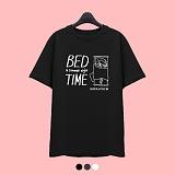 [슈퍼레이티브] superlative - [7J5020] BED TIME 반팔 티셔츠 - 반팔 티셔츠 - 3컬러 반팔티 티셔츠
