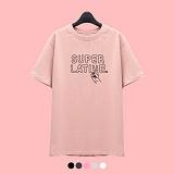 [슈퍼레이티브] superlative - [7J5021] V SIGN 반팔 티셔츠 - 반팔 티셔츠 - 5컬러 반팔티 티셔츠