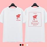 [슈퍼레이티브] superlative - [7J5022] INVASION 반팔 티셔츠 - 반팔 티셔츠 - 3컬러 반팔티 티셔츠