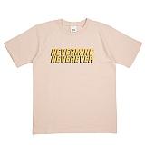 [네버에버] NEVEREVER - NEVERMIND T (BEIGE) 반팔 반팔티 티셔츠