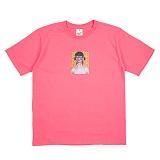 [네버에버] NEVEREVER - LIGHTNING T (CORAL PINK) 반팔 반팔티 티셔츠