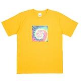 [네버에버] NEVEREVER - HIPPIE DYE T (GOLD YELLOW) 반팔 반팔티 티셔츠