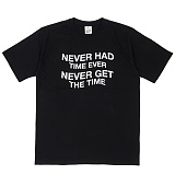 [네버에버] NEVEREVER - NEVEREVER TIME T (BLACK) 반팔 반팔티 티셔츠
