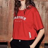 [어나더프레임] ANOTHER FRAME - AF 143 CROP T-SHIRT (RED) 크롭티 반팔티 반팔 티셔츠
