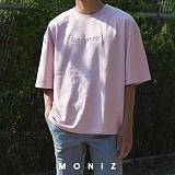 [모니즈] 뉴욕 엠보 반팔 티셔츠 (3color) TSB119