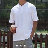 [모니즈] 와이 헨리넥 반팔 티셔츠 (2color) TSB116