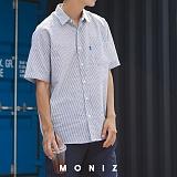 [모니즈] 시어서커 줄지 반팔 셔츠 (3color) SHT603