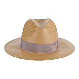 바잘 - Standard brim panama hat brown_right brown 파나마모자