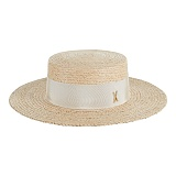 바잘 - Wide brim boater hat beige_right beige 파나마모자 보터햇
