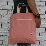 언브라운 - pastel big eco bag 토트 크로스 에코백 (indi pink)