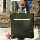 언브라운 - pastel big eco bag 토트 크로스 에코백 (khaki)