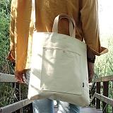 언브라운 - pastel big eco bag 토트 크로스 에코백 (ivory)