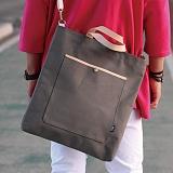 언브라운 - pastel big eco bag 토트 크로스 에코백 (gray)