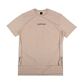 [아이넨]EINEN-Peerless Doubleside Zipper 1/2 T-Shirts Beige 반팔티